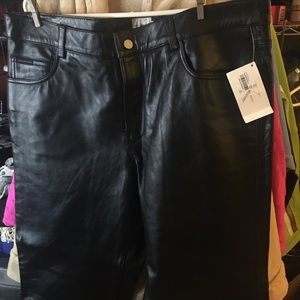 Calvin Klein 100% Real Leather Pants